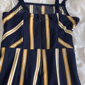 Other - Wide leg striped jumpsuit sz s